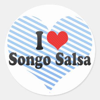 I Love Songo Salsa Round Sticker