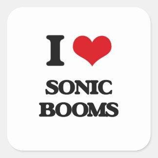 I love Sonic Booms Square Sticker