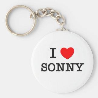 I Love Sonny Basic Round Button Key Ring