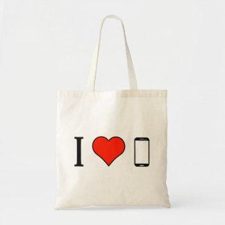 I Love Sony Phone Budget Tote Bag