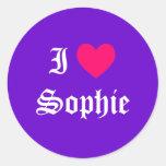 I Love Sophie Classic Round Sticker