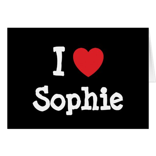 I love Sophie heart T-Shirt Card