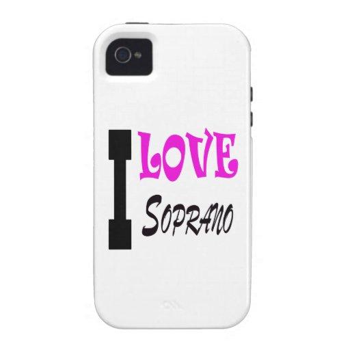 I Love soprano Case-Mate iPhone 4 Case