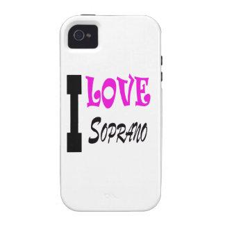 I Love soprano Case-Mate iPhone 4 Covers