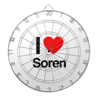 i love soren dartboard