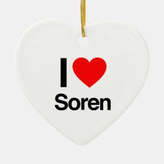 i love soren ornament