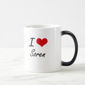 I Love Soren Morphing Mug