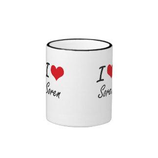 I Love Soren Ringer Mug