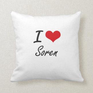 I Love Soren Throw Cushion