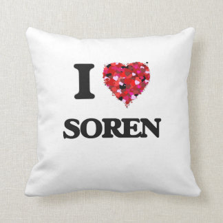 I Love Soren Throw Cushions