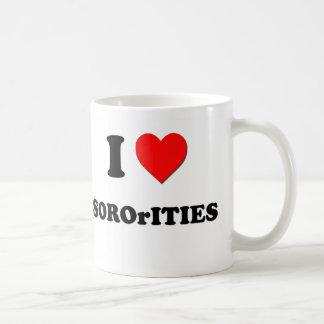 I love Sororities Coffee Mugs