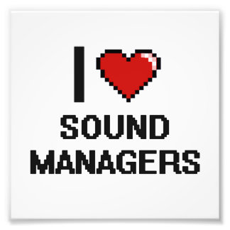 I love Sound Managers Photo Print