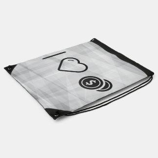 I Love Sources Drawstring Bag
