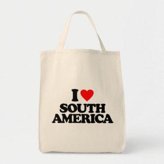 I LOVE SOUTH AMERICA CANVAS BAG