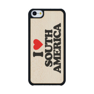 I LOVE SOUTH AMERICA CARVED® MAPLE iPhone 5C CASE
