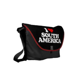 I LOVE SOUTH AMERICA MESSENGER BAG