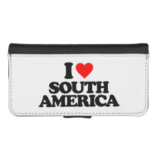 I LOVE SOUTH AMERICA iPhone 5 WALLET CASE