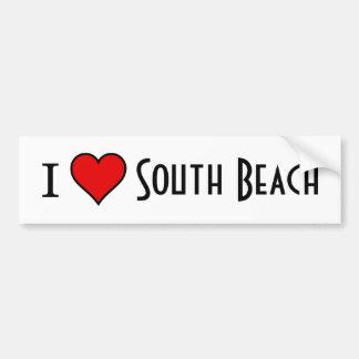 ~I Love South Beach~ BUMPER STICKER