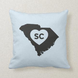 I Love South Carolina State Throw Pillow