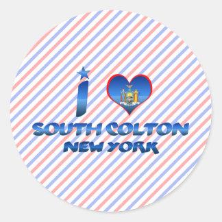 I love South Colton, New York Round Sticker