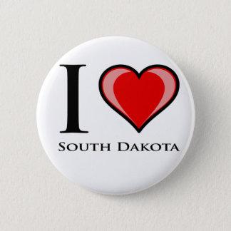 I Love South Dakota 6 Cm Round Badge