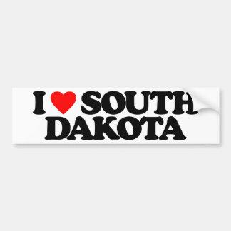 I LOVE SOUTH DAKOTA BUMPER STICKER