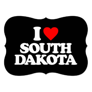 I LOVE SOUTH DAKOTA PERSONALIZED INVITE