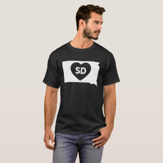 I Love South Dakota State Men's Basic Dark T-Shirt