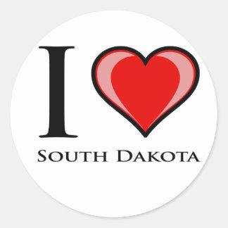 I Love South Dakota Stickers