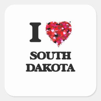 I Love South Dakota Square Sticker