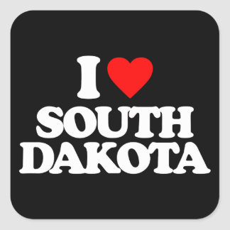 I LOVE SOUTH DAKOTA STICKER
