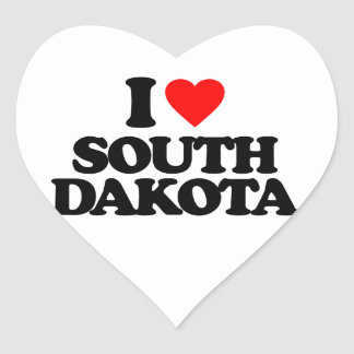 I LOVE SOUTH DAKOTA HEART STICKER