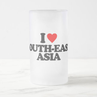 I LOVE SOUTH-EAST ASIA FROSTED GLASS MUG