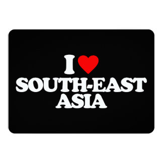I LOVE SOUTH-EAST ASIA 13 CM X 18 CM INVITATION CARD