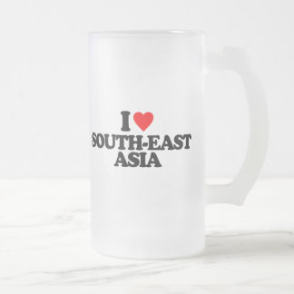 I LOVE SOUTH-EAST ASIA FROSTED BEER MUG