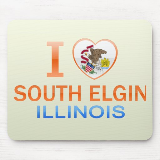 I Love South Elgin, IL Mouse Pad