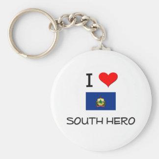 I Love South Hero Vermont Key Ring
