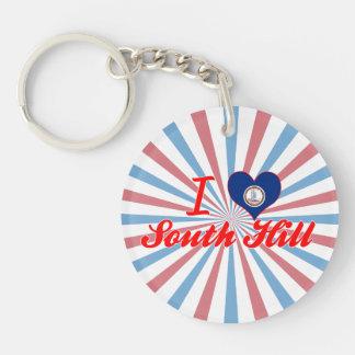 I Love South Hill Virginia Acrylic Key Chains