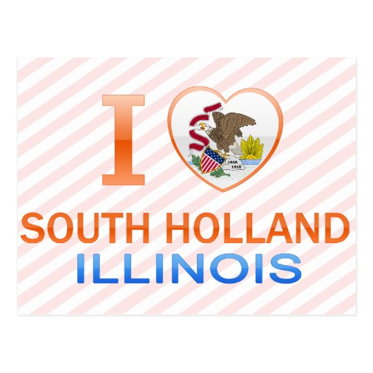 I Love South Holland, IL Postcard