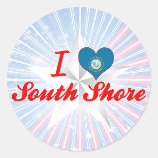I Love South Shore, South Dakota Round Sticker