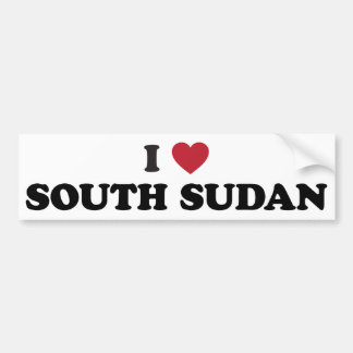 I Love South Sudan Bumper Stickers