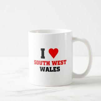 I love South West Wales Basic White Mug