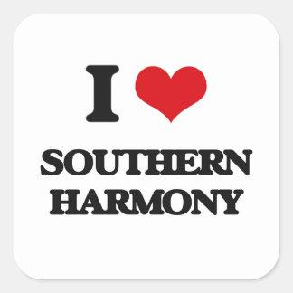 I Love SOUTHERN HARMONY Square Sticker