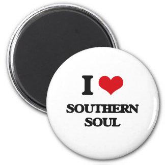 I Love SOUTHERN SOUL Refrigerator Magnet