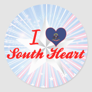 I Love SouthHeart, North Dakota Stickers