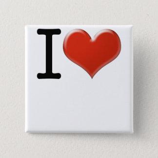 I Love souvenir 15 Cm Square Badge