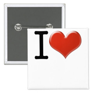 I Love souvenir 15 Cm Square Badge