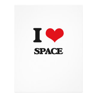 I love Space 21.5 Cm X 28 Cm Flyer
