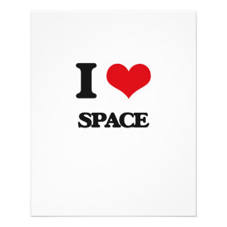 I love Space 11.5 Cm X 14 Cm Flyer
