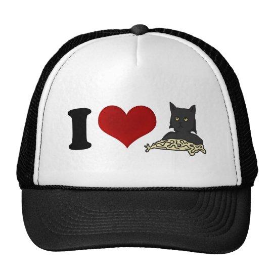 I Love Spaghetti Cat Cap